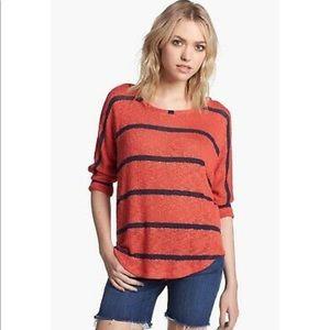 Splendid Dolman Sleeve Pointelle Sweater Knit Top